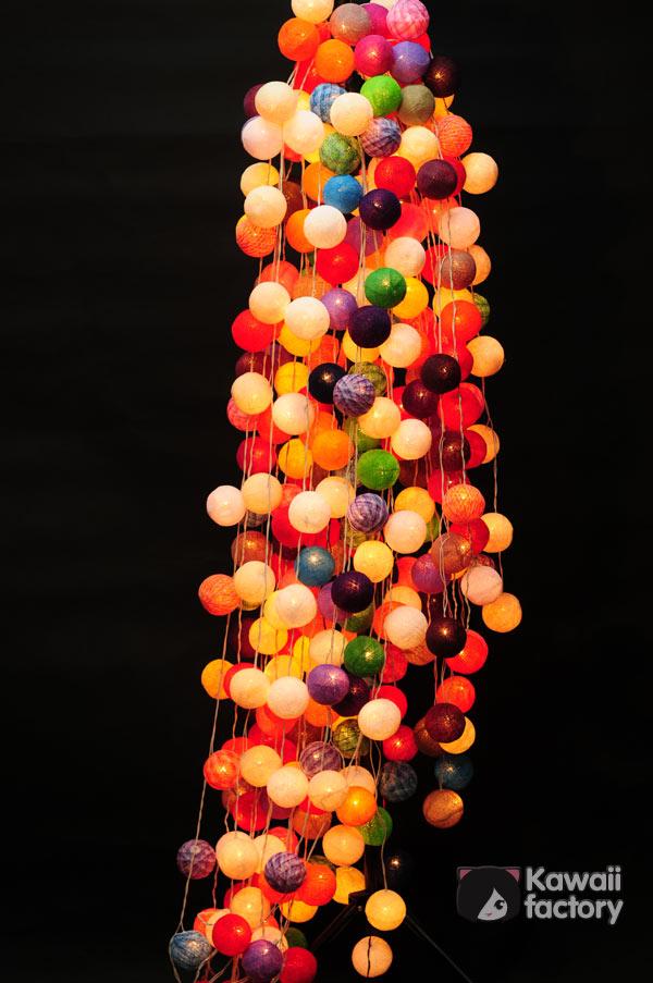 Гирлянда, цветные шарики, тайские шарики