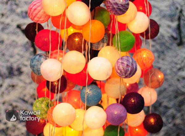 Гирлянда, цветные шарики
