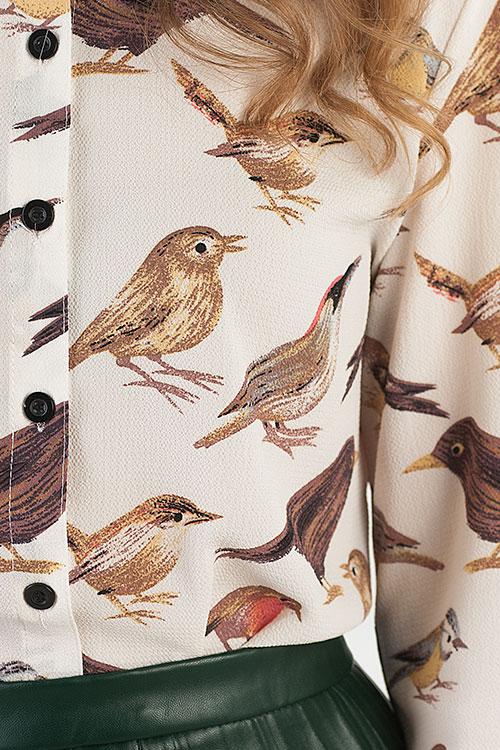 Блузка С Птичками