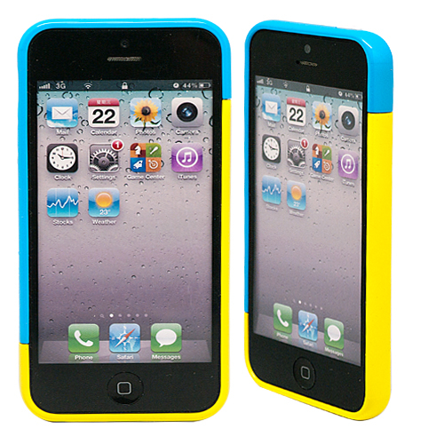 "Бампер для iPhone 5/5s ""Candy colors - blue & yellow"""