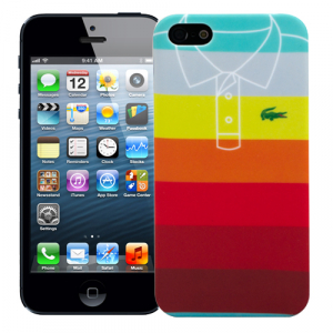 "Чехол для iPhone 5/5s ""Rainbow stripes"", серия ""Sports shirt"""